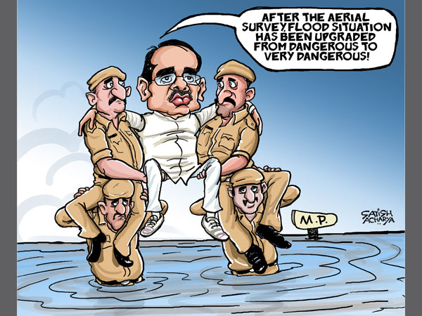MP CM conducts a different sort of 'aerial survey'