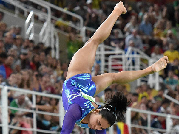 Dipa Karmakar Participates in the vault during the artistic gymnastics women's final