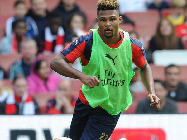 Serge Gnabry practicing in Arsenal jersey (Image courtesy: Serge Gnabry Twitter handle)