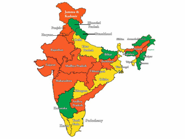 India States Map 2016.States Ruled By Congress And Bjp After 2016 Assembly Polls