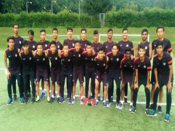 India U16 players at Germany (Image courtesy: Indian Football Team Twitter)