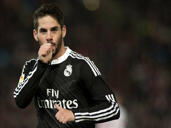 Isco celebrates after scoring for Real Madrid (Image courtesy: Real Madrid twitter handle)