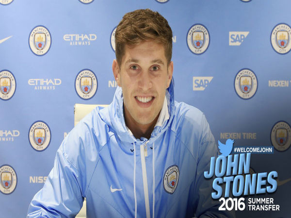 Manchester City sign John Stones (Image courtesy: Manchester City Twitter handle)