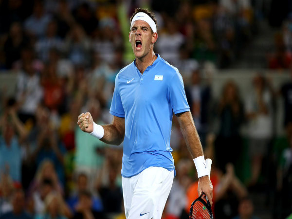 Juan Martin Del Potro celebrates after winning a point (Image courtesy: Juan Martin del Potro Twitter handle)
