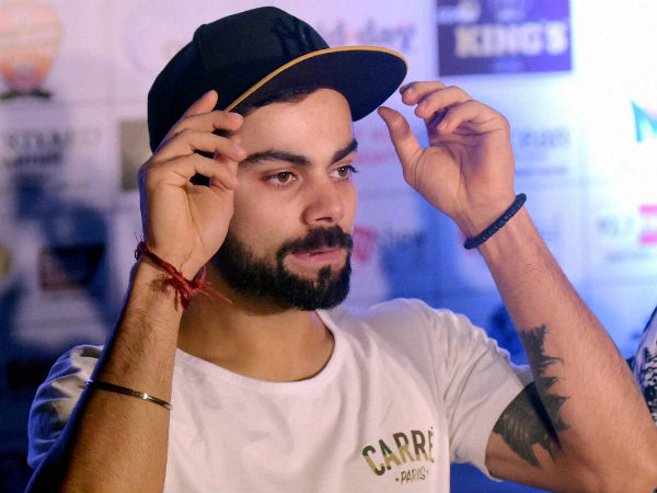 Virat Kohli during a press conference of Celebrity Clasico 2016 football match in Mumbai