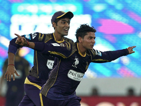 A file photo of Kuldeep Yadav (right)