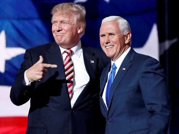 US President Donald Trump and VP Mike Pence. PTI file photo