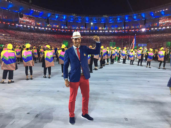 Rafael during the Rio Olympics 2016 opening ceremony