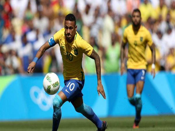 Neymar in action for Brazil at Rio Olympics 2016 (Image courtesy: FIFA.com Twitter handle)