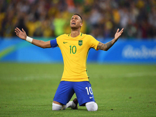 Neymar cries in ecstasy after guiding Brazil to maiden football gold in Olympics (Image courtesy: Olympics Twitter handle)