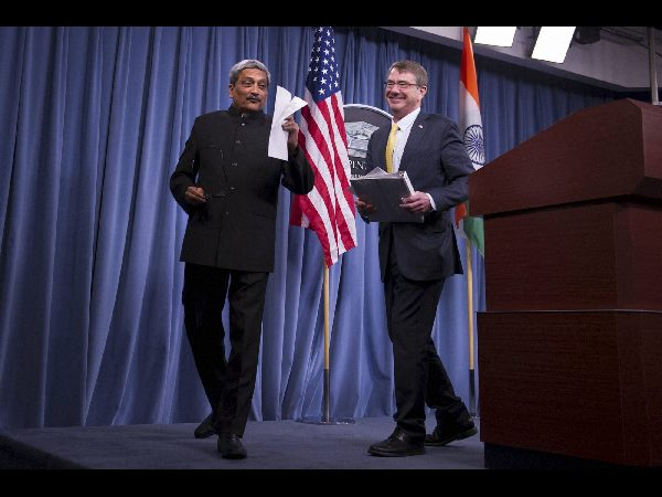 manohar parrikar ashton carter