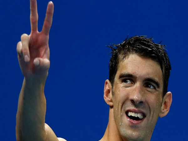Michael Phelps celebrates after winning gold medal at Rio Olympics 2016 (Image courtesy: Rio 2016 Twitter handle)