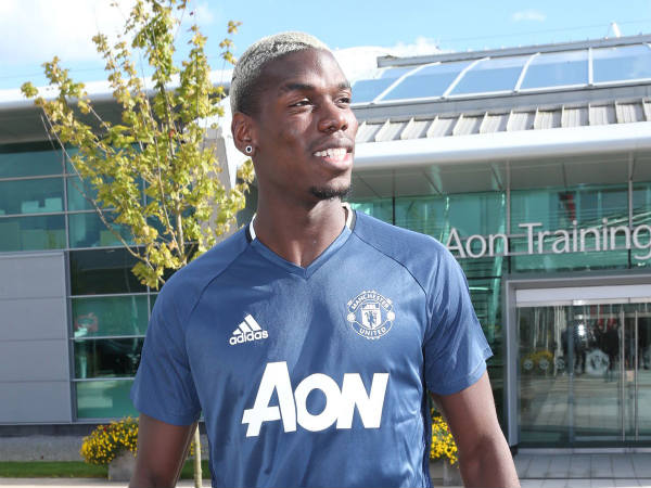 Paul Pogba in Manchester United colours (Image courtesy: Manchester United Twitter handle)