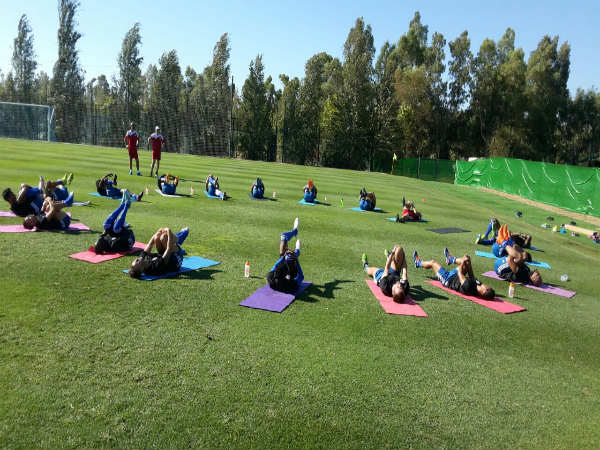FC Pune City players training at Spain