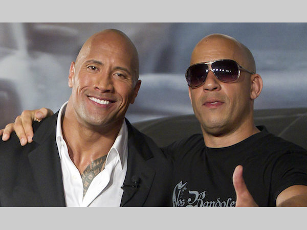 The Rock with Vin Diesel (Photo from wrestlezone.com)