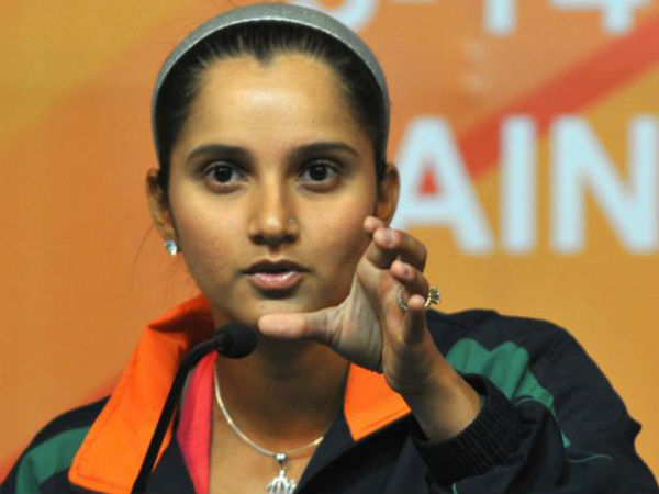 Sania Mirza at a post match press conference