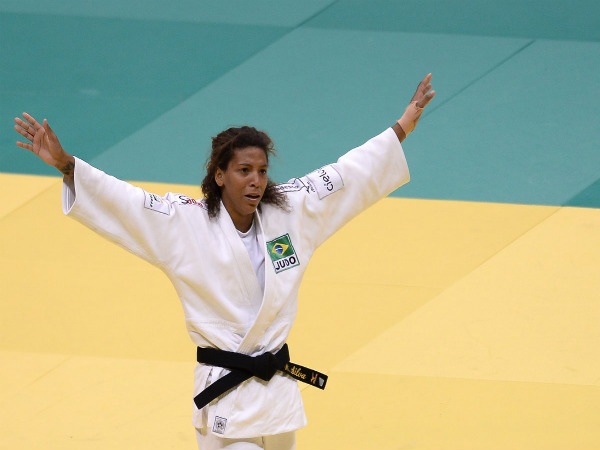 Rafaela Silva wins first gold medal for Brazil in Judo (Image courtesy: Rio Olympics 2016 Twitter)