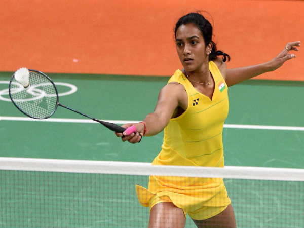 PV SIndhu in action at Rio Olympics 2016