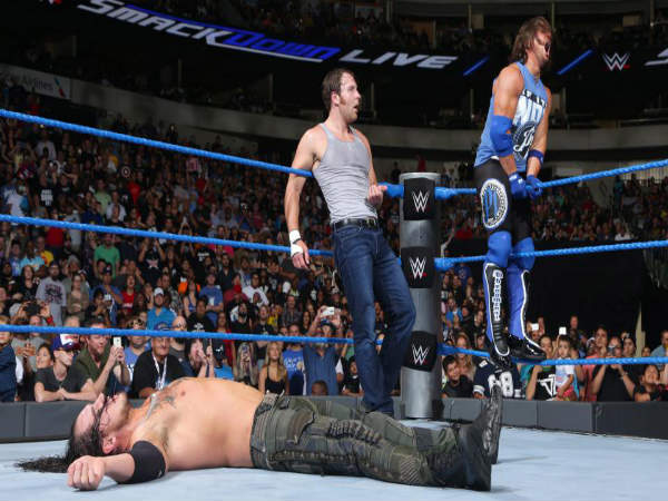 Ambrose vs. Corbin took place in the main event of Smackdown (image courtesy wwe.com)