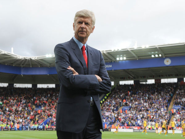 Arsene Wenger at Kingpower Stadium (Image courtesy: Arsenal FC Twitter handle)