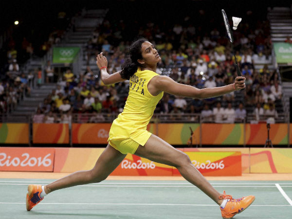 PV Sindu in action at Rio Olympics