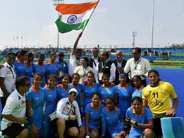 File photo: Indian women's hockey team at Rio Olympics