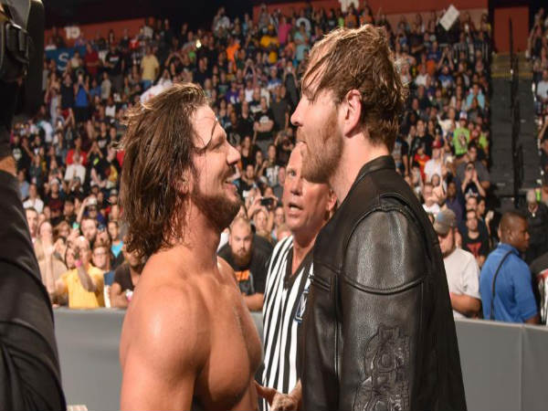 AJ Styles (left) Dean Ambrose (right) will continue on Smackdown (image courtesy WWE.com)