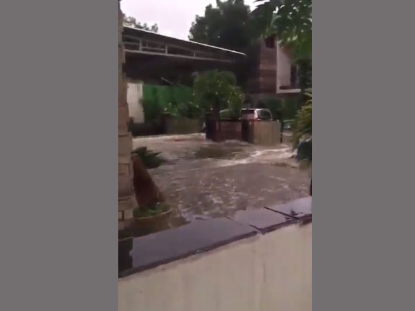 Flood in the streets of Hyderabad
