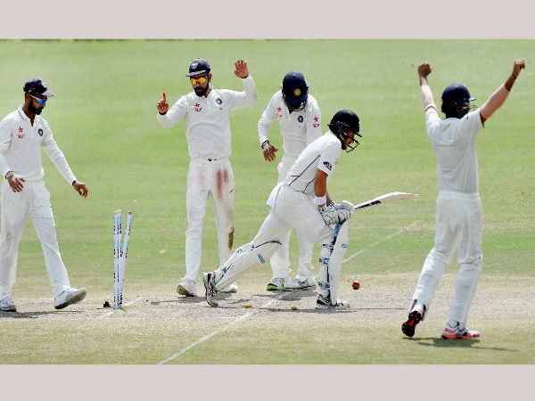 Indian team celebrates victory