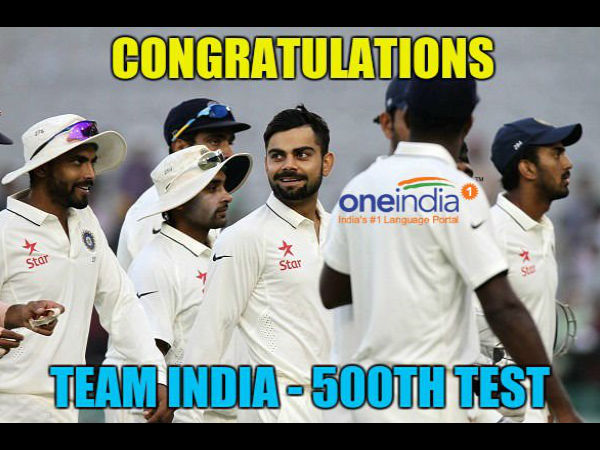 Team India's 500th Test match