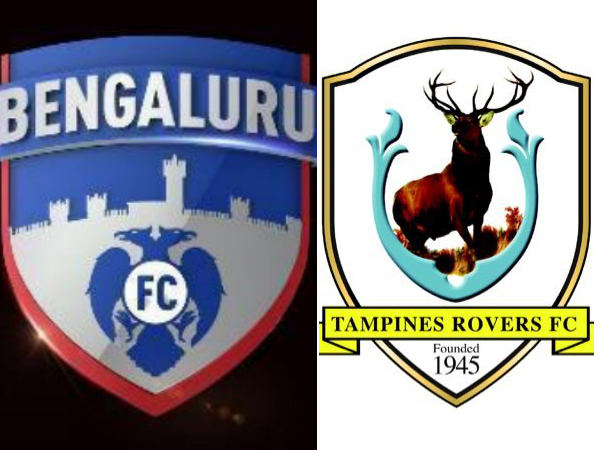 Bengaluru FC Vs Tampines Rovers (Image courtesy: Clubs' official Twitter handles)