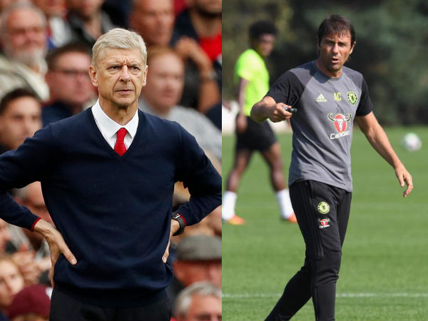 Arsene Wenger (left) and Antonio Conte (Image courtesy: Arsenal and Chelsea Twitter handle)