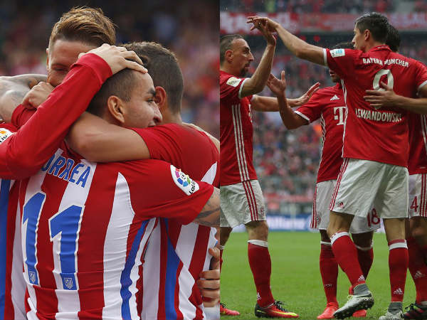 Atletico Madrid and Bayern Munich players (Image courtesy: Atletico Madrid and Bayern Munich Twitter handles)