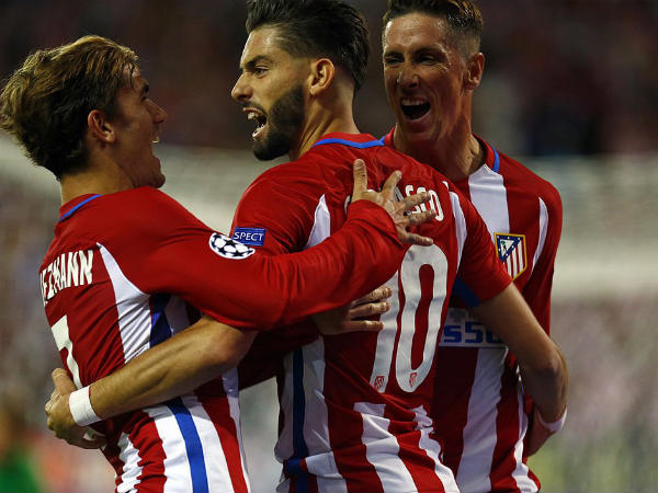Atletico Madrid players celebrate (Image courtesy: Atletico Madrid Twitter handle)