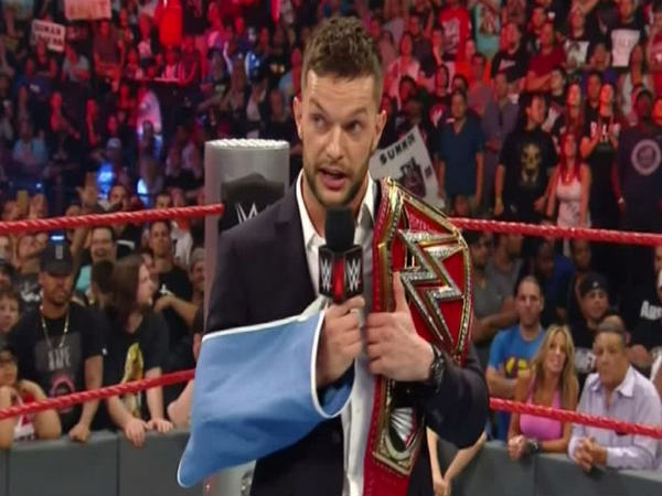 Finn Balor suffered a shoulder injury (image courtesy WWE)