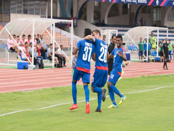 Bengaluru FC players celebrate (Bengaluru FC Twitter handle)
