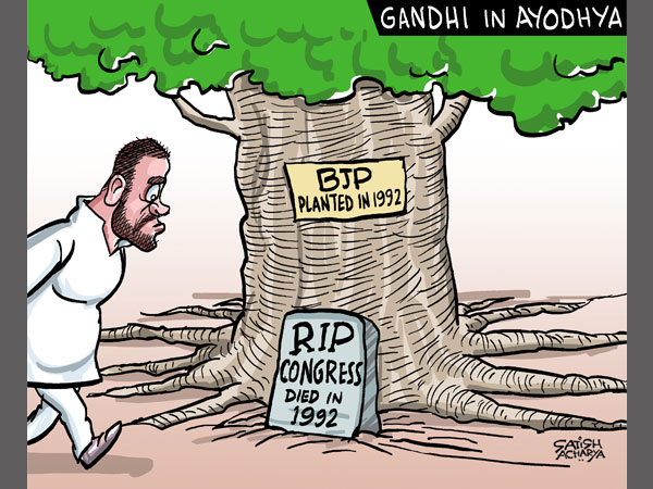 Can Rahul Gandhi visit to Ayodhya revive the dead Congress ?