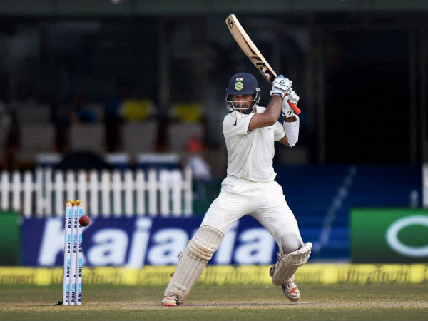 Pujara bats during the 1st Test against New Zealand in Kanpur