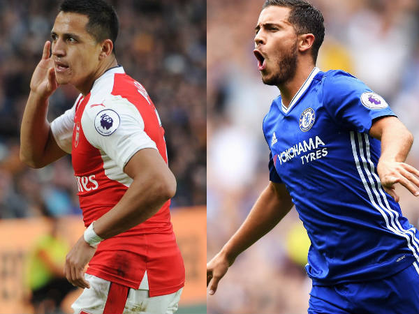 Alexis Sanchez and Eden Hazard (Image courtesy; Arsenal FC and Chelsea FC Twitter handle)
