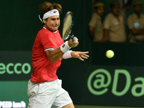 David Ferrer plays against Ramkumar Ramanathan
