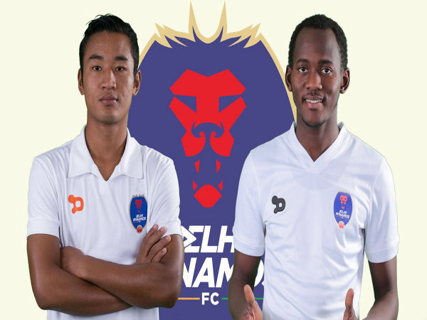 Lalruatthara (left) and Badara Badji (Image courtesy: Delhi Dynamos Twitter handle)