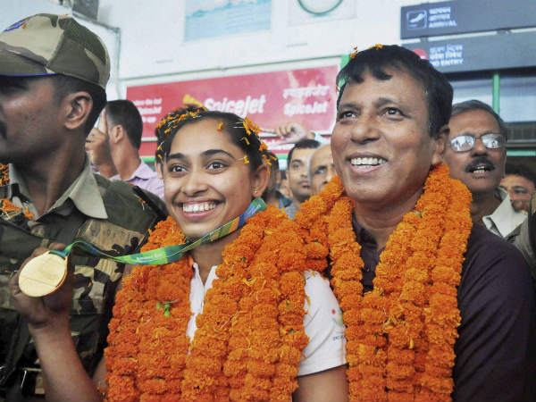 File photo: Dipa with her coach Nandi