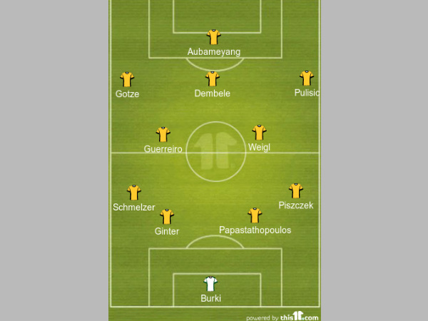 Dortmund predicted lineup formation