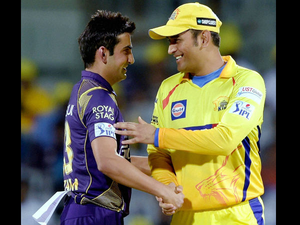 File photo: Gambhir (left) with Dhoni during IPL