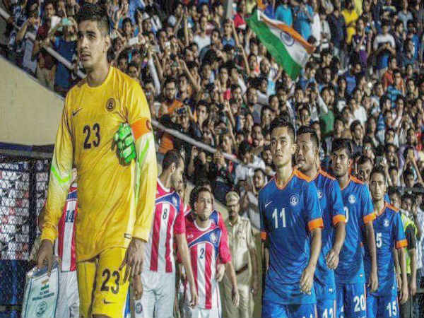 Gurpreet Singh Sandhu leading the Indian team (Image courtesy: Gurpreet Singh Twitter handle)