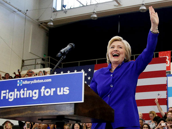 We're in a strong position: Hillary