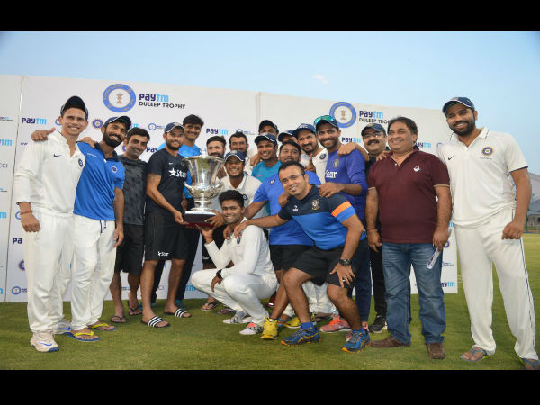 India Blue thrash India Red by 355 runs, clinch Duleep Trophy in style