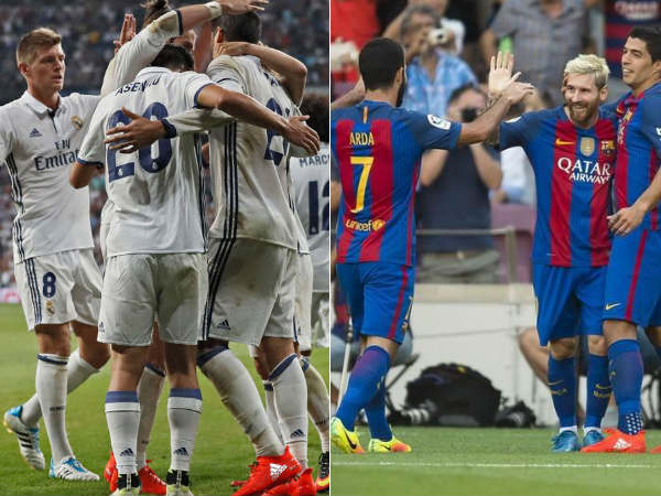 Real Madrid (left) and FC Barcelona (Image courtesy: Real madrid and Barcelona Twitter)