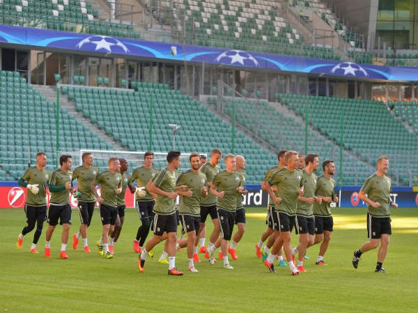 Legia Warsaw players (Image courtesy: Legia Warsaw Twitter handle)