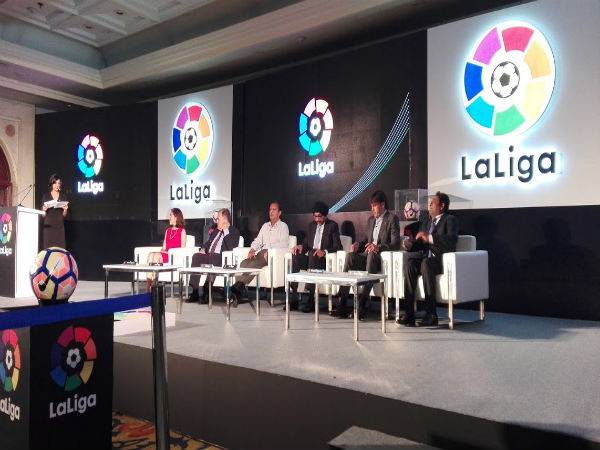 The official opening of the La Liga office in India (Image courtesy: La Liga Twitter handle)